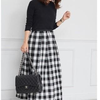 Drawer - オブリ OBLI  ウールチェック スカート