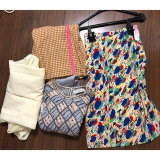 シャネル(CHANEL)のさいさま専用 スカーフスカート(ひざ丈スカート)