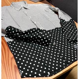 ユニフォームエクスペリメント(uniform experiment)のuniform experiment☆ストライプ・ドット切り替えBDシャツ 1(シャツ)