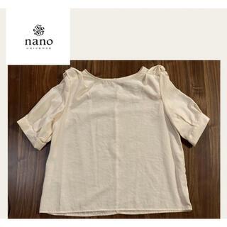ナノユニバース(nano・universe)の《新品》nano BASE ナノユニバース シャツ フリーサイズ(シャツ/ブラウス(半袖/袖なし))