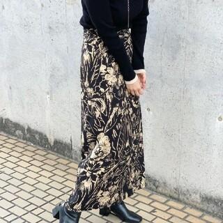Kastane - Kastane バティック柄Iラインスカート