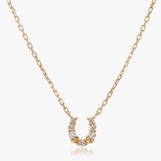 agete - アガット ネックレス 18K ダイヤモンド ホースシュー