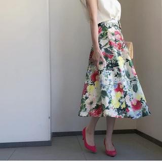 ZARA - ZARA 花柄 フレアスカート