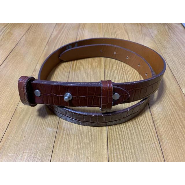 SUNSEA(サンシー)の専用 sunsea  crocodile belt サンシー ベルト ブラウン メンズのファッション小物(ベルト)の商品写真