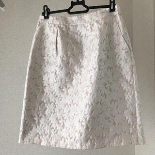 NATURAL BEAUTY BASIC - ナチュラルビューティーベーシック 花柄スカート 美品