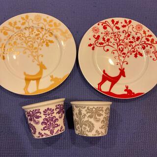 Francfranc - Francfranc フランフラン、クリスマス プレート 2枚、カップ 2個、皿