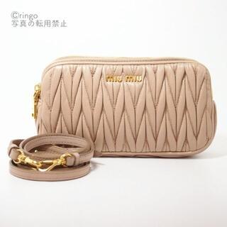 miumiu - 【綺麗】miumiu マテラッセ ショルダー バッグ ブラウン