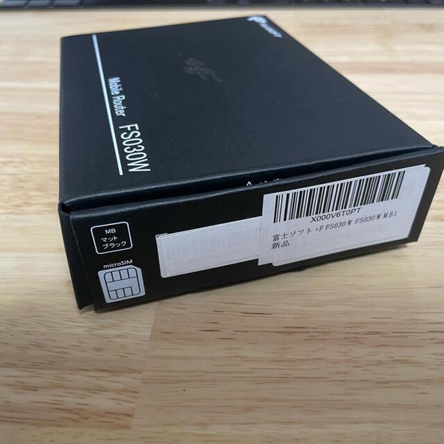 富士通(フジツウ)の【美品】富士ソフト ルーター +F FS030W FS030WMB1 スマホ/家電/カメラのPC/タブレット(PC周辺機器)の商品写真