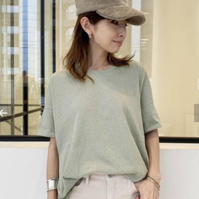 L'Appartement DEUXIEME CLASSE(アパルトモンドゥーズィエムクラス)の新品未使用 GOOD GRIEF/グッドグリーフ Relaxed Tee カーキ レディースのトップス(Tシャツ(半袖/袖なし))の商品写真