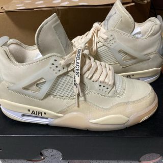 OFF-WHITE - AIR  JORDAN4 レトロ×off white sail