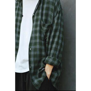 COMOLI - [COMOLI] レーヨン オープンカラーシャツ GREEN サイズ 2