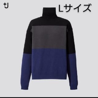 UNIQLO - ユニクロ ジルサンダー メリノブレンドタートルネックセーター ブラック L 新品