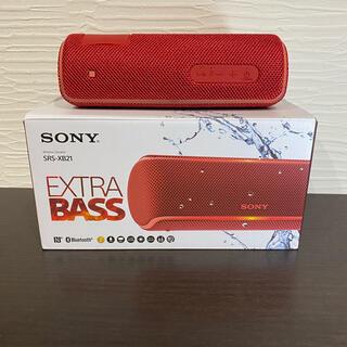 SONY - 販売ソニー ワイヤレスポータブルスピーカーSONY SRS-XB21(R)