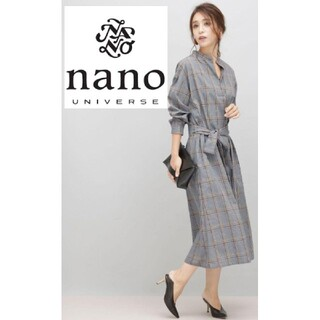ナノユニバース(nano・universe)のWeb限定品❁チェックロングワンピース(ロングワンピース/マキシワンピース)