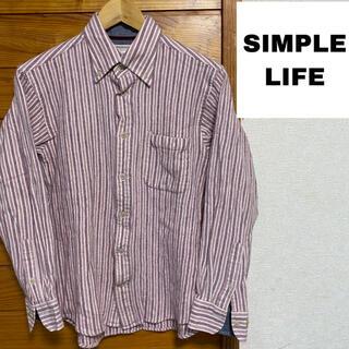 シンプルライフ(SIMPLE LIFE)のSIMPLE LIFE ストライプ ネルシャツ(シャツ)