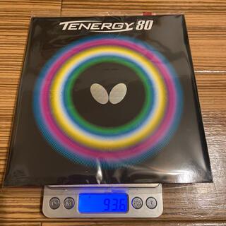 バタフライ(BUTTERFLY)のbutterfly(タマス) テナジー80 トクアツ(2.1mm) 赤(卓球)