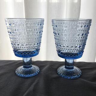 iittala - カステヘルミ ユニバーサルグラス アクア 2個セット 美品