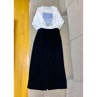 カーゴポケットAラインスカート 36