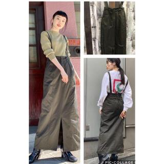 カスタネ(Kastane)のkastane★サテン織りサス付き編み上げスカート★ラスト3(ロングスカート)