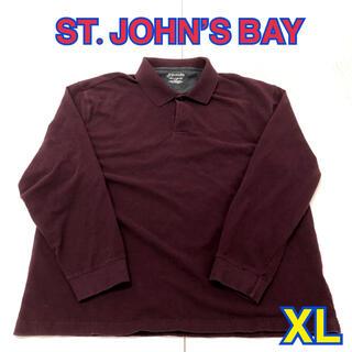 146 USA 古着 ST.JOHN'S BAY 長袖ポロシャツ XL(ポロシャツ)