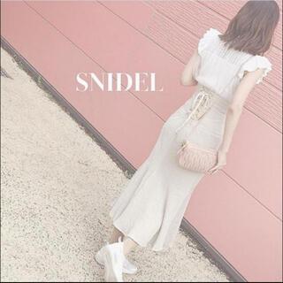 snidel - SNIDEL コットンリネンマーメイドスカート ベージュ