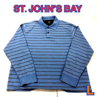 149 USA 古着 ST.JOHN'S BAY 長袖ポロシャツ L(ポロシャツ)