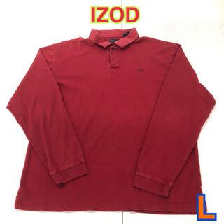 150 USA 古着 IZOD 長袖ポロシャツ L(ポロシャツ)