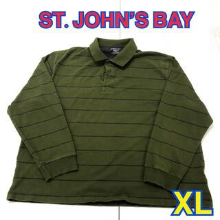 151 USA 古着 ST.JOHN'S BAY 長袖ポロシャツ XL(ポロシャツ)