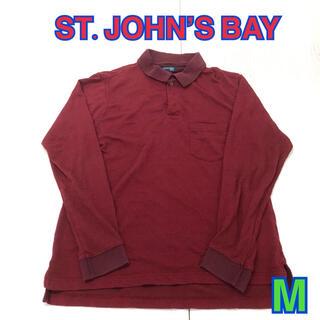 152 USA 古着 ST.JOHN'S BAY 長袖ポロシャツ M(ポロシャツ)