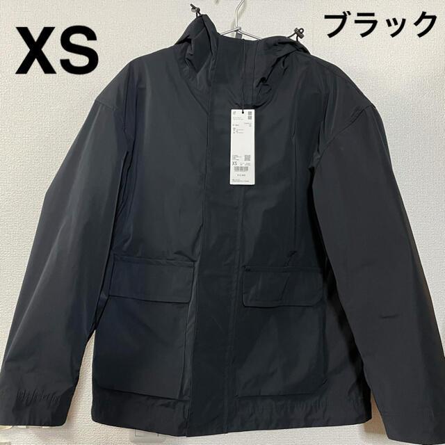 Jil Sander(ジルサンダー)のユニクロ ジルサンダー オーバーサイズマウンテンパーカ ブラック +J XS メンズのジャケット/アウター(マウンテンパーカー)の商品写真