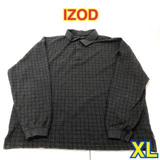 153 USA 古着 IZOD 長袖ポロシャツ XL(ポロシャツ)