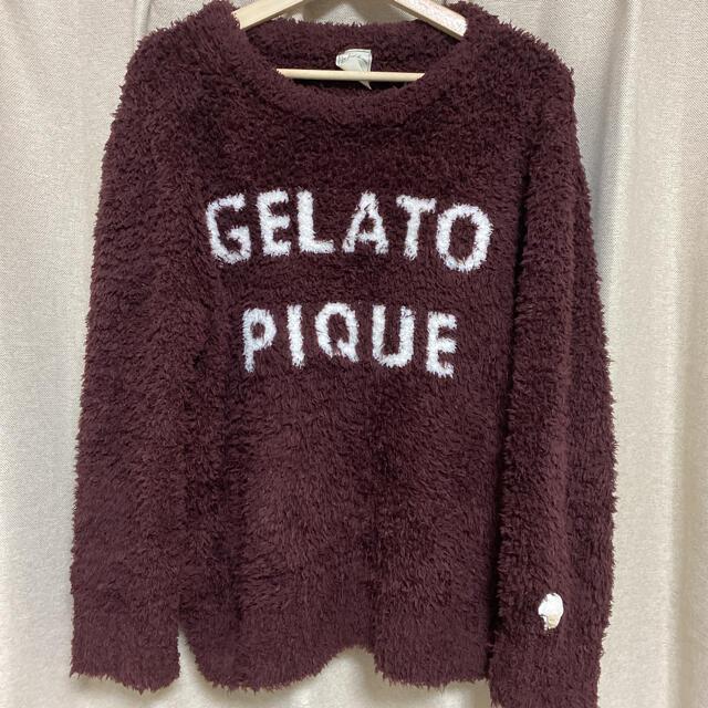 gelato pique(ジェラートピケ)のジェラートピケ❤️ ロゴジャガードプルオーバー❤️ レディースのルームウェア/パジャマ(ルームウェア)の商品写真