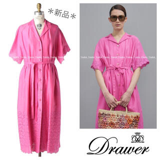 Drawer - ⭐️新品‼︎⭐️Drawer 完売エンブロダイリーワンピース 春夏 アドーア💫