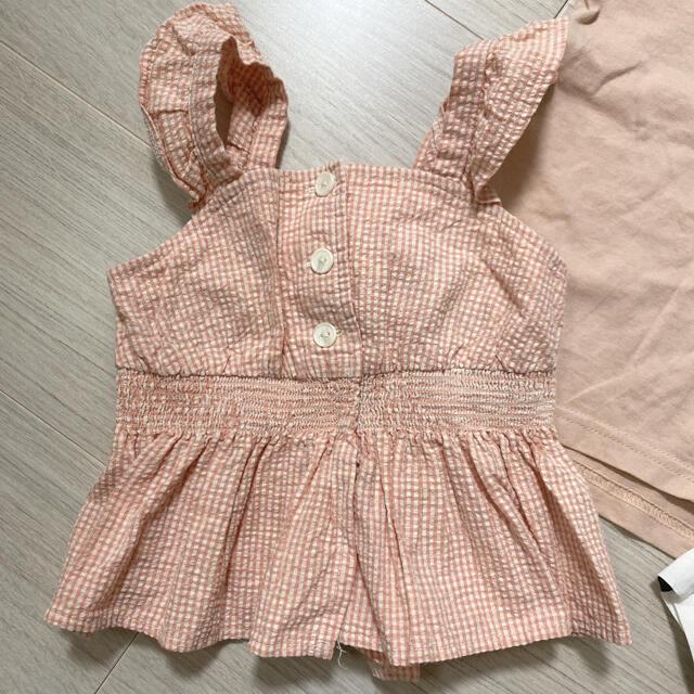 petit main(プティマイン)のプティマイン 女の子 セット トップス キッズ/ベビー/マタニティのベビー服(~85cm)(Tシャツ)の商品写真