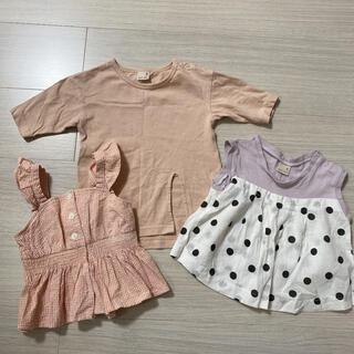 プティマイン(petit main)のプティマイン 女の子 セット トップス(Tシャツ)