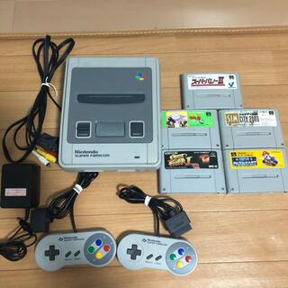 スーパーファミコン - スーパーファミコン本体・カセット5本