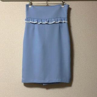 リルリリー(lilLilly)のリボンショルダー2wayスカート(ひざ丈スカート)