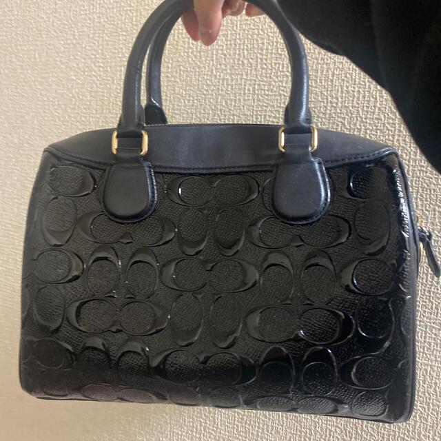COACH(コーチ)のcoach コーチ ハンドバッグ 黒 レディースのバッグ(ハンドバッグ)の商品写真