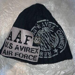 AVIREX - 新品 AVIREX アヴィレックス AIR FORCE ビーニー FREE