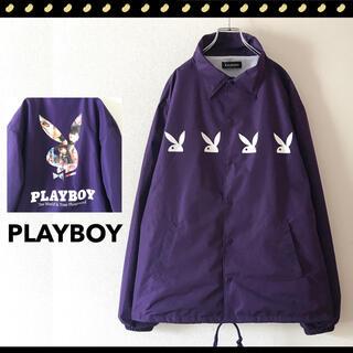 PLAYBOY - PLAYBOY★ナイロン★コーチジャケット★ドロップショルダー