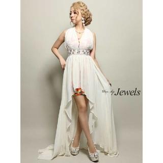 JEWELS - Jewels シフォン ホルター ショート ロング ドレス M