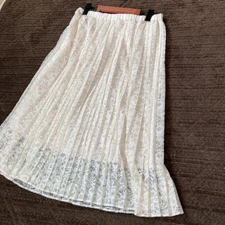 ボッシュ(BOSCH)のBOSCH ボッシュ 広がりすぎないプリーツレーススカート(40)(ロングスカート)