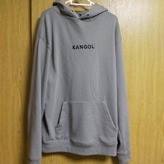 KANGOL - KANGOL カンゴール ロゴ刺繍 パーカー ベージュ Lサイズ