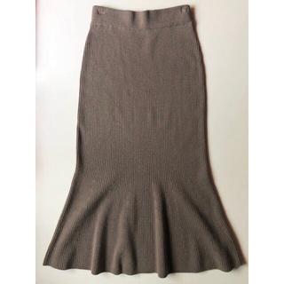 snidel - 中古 snidel Fサイズ やや薄手 リブニット素材 マーメイドスカート