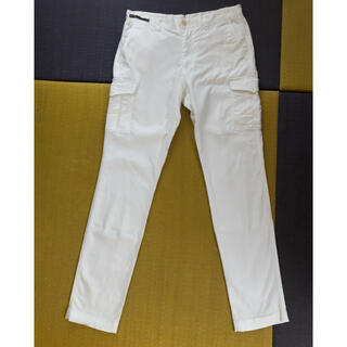 エディフィス(EDIFICE)の417エディフィスEDIFICE ホワイトコットンパンツ カーゴ 白(ワークパンツ/カーゴパンツ)