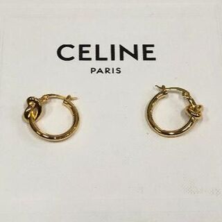 celine - celine フープ ピアス ゴールド