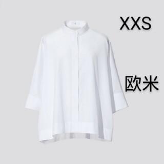 UNIQLO - ユニクロ ジルサンダー スーピマコットンドルマンスリーブシャツ ホワイト XXS