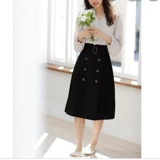 INGNI - INGNI イングプリーツスカートトレンチミディスカート ブラック Mサイズ