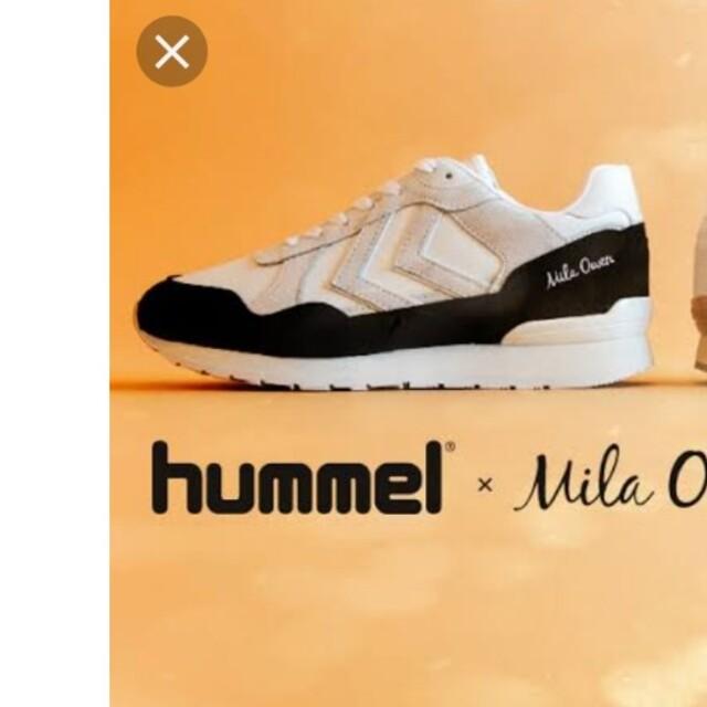 Mila Owen(ミラオーウェン)のhummel×mila owen×atmos コラボスニーカー レディースの靴/シューズ(スニーカー)の商品写真