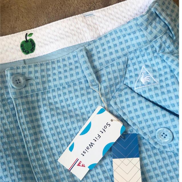 le coq sportif(ルコックスポルティフ)の新品未使用!ルコックドット柄ベルト付きスカート スポーツ/アウトドアのゴルフ(ウエア)の商品写真